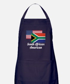 American And South African Flag Apron (dark)