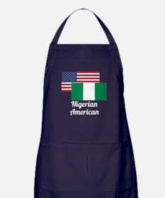 American And Nigerian Flag Apron (dark)