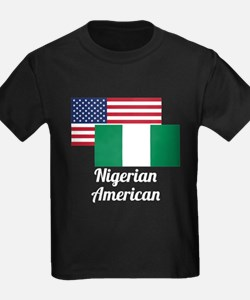 American And Nigerian Flag T-Shirt