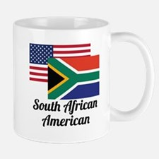 American And South African Flag Mugs