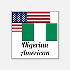 American And Nigerian Flag Sticker