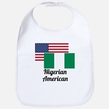 American And Nigerian Flag Bib