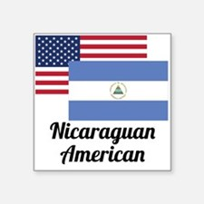 American And Nicaraguan Flag Sticker