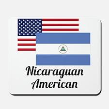 American And Nicaraguan Flag Mousepad