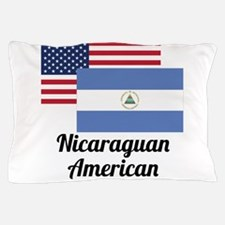 American And Nicaraguan Flag Pillow Case