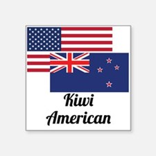 American And New Zealand Flag Sticker