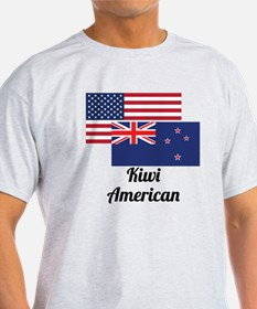 American And New Zealand Flag T-Shirt
