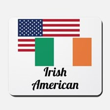 American And Irish Flag Mousepad