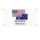 Australian american flag Banners