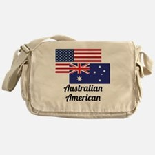 American And Australian Flag Messenger Bag