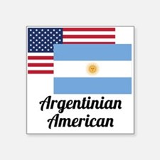 American And Argentinian Flag Sticker