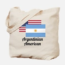 American And Argentinian Flag Tote Bag