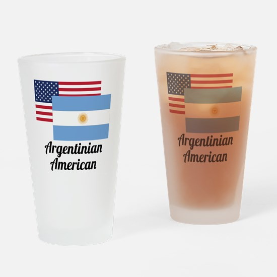 American And Argentinian Flag Drinking Glass