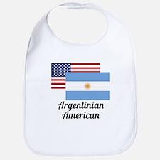 American And Argentinian Flag Bib