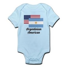 American And Argentinian Flag Body Suit