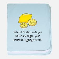 Lemonade Suck 2 baby blanket