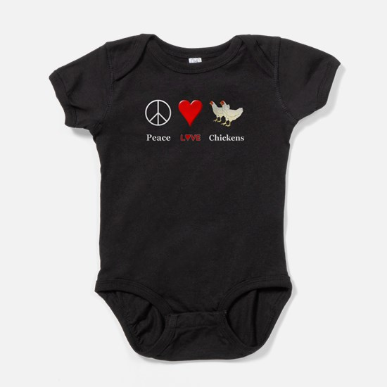 Peace Love Chickens Baby Bodysuit