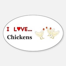I Love Chickens Decal