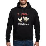 I Love Chickens Hoodie (dark)