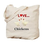I Love Chickens Tote Bag
