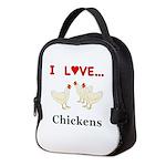 I Love Chickens Neoprene Lunch Bag