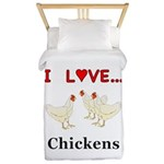 I Love Chickens Twin Duvet