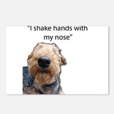 Airedale Terrier Friends Postcards (Package of 8)