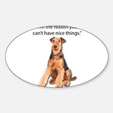 Airedale Terrier Friends Decal