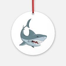 Shark week Round Ornament
