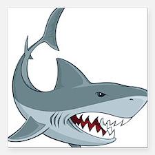 "Shark week Square Car Magnet 3"" x 3"""
