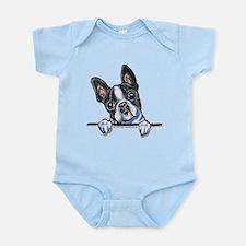 Unique Boston terrier art Infant Bodysuit