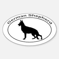 GERMAN SHEPHERD Sticker (Oval)
