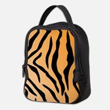 Faux Tiger Print Neoprene Lunch Bag