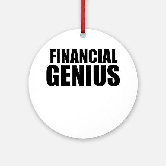 Financial Genius Round Ornament