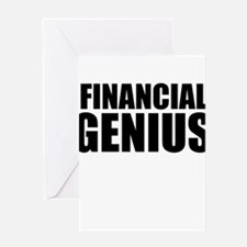 Financial Genius Greeting Cards