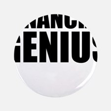 "Financial Genius 3.5"" Button (100 pack)"