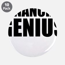 "Financial Genius 3.5"" Button (10 pack)"