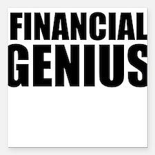 """Financial Genius Square Car Magnet 3"""" x 3"""""""