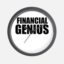 Financial Genius Wall Clock