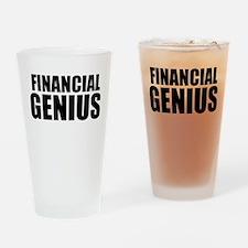 Financial Genius Drinking Glass
