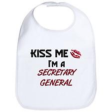 Kiss Me I'm a SECRETARY GENERAL Bib