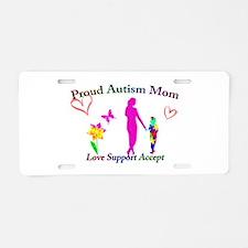 Proud Autism Mom Aluminum License Plate