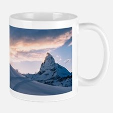 Matterhorn at sunset Mugs