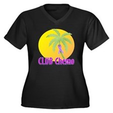Club Chemo-General Women's Plus Size V-Neck Dark T