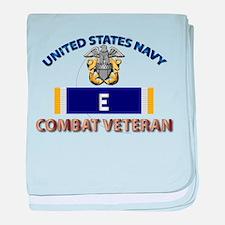 Navy E Ribbon - Cbt Vet baby blanket