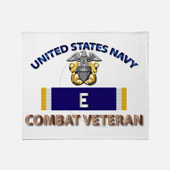 Navy E Ribbon - Cbt Vet Throw Blanket