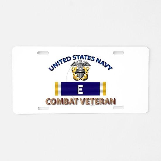 Navy E Ribbon - Cbt Vet Aluminum License Plate