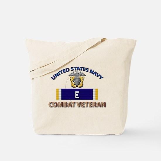 Navy E Ribbon - Cbt Vet Tote Bag