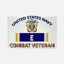 Navy E Ribbon - Cbt Vet Rectangle Magnet
