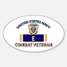 Navy E Ribbon - Cbt Vet Sticker (oval)